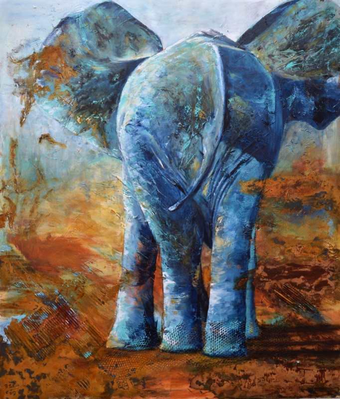Charlie leaving (Acryl auf Leinwand) ist ein Bild von Bianca Leidner zur aktuellen online-Ausstellung der Künstlergruppe Kunst & Bündig.