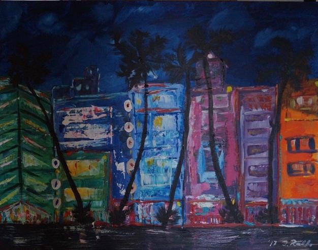 Art Deco District (Acryl auf Leinwand) ist ein Bild von Dirk Ralfs zur aktuellen online-Ausstellung der Künstlergruppe Kunst & Bündig.