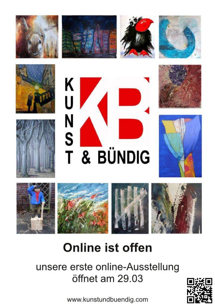 Am 29.03. eröffnet die Online Galerie von KUNST & BÜNDIG. Jeden zweiten Tag wird ein Künstler eins seiner Bilder dort ausstellen.