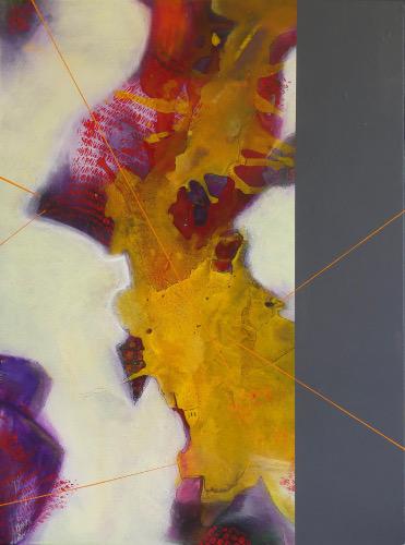 Support (Collage auf Leinwand) ist ein Bild von Gabriele Vanselow zur aktuellen online-Ausstellung der Künstlergruppe Kunst & Bündig.