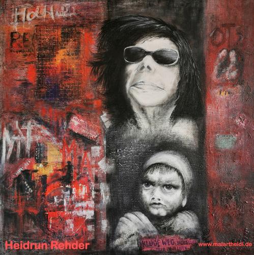 Lebensweg (Acryl auf Leinwand) ist ein Bild von Heidrun Rehder zur aktuellen online-Ausstellung der Künstlergruppe Kunst & Bündig.