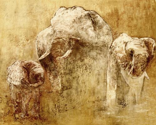 Wunderwesen (Acryl-Mal-Spachtel-Arbeit auf Leinwand) ist ein Bild von Heidrun Rehder zur aktuellen online-Ausstellung der Künstlergruppe Kunst & Bündig.