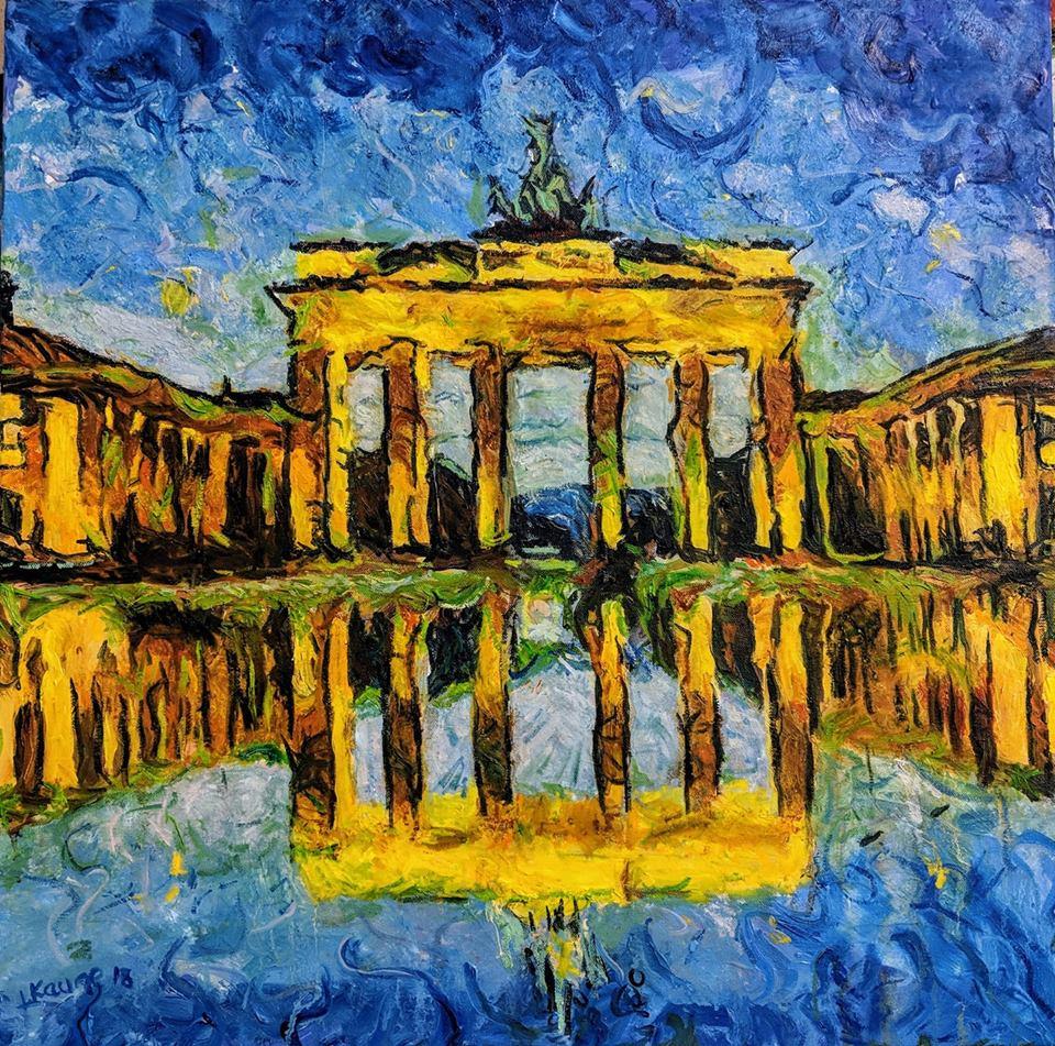 Brandenburger Tor ist ein Bild (Öl auf Leinwand) von Jann Kaune zur aktuellen online-Ausstellung der Künstlergruppe Kunst & Bündig.